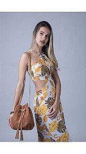 Vestido longo - Flamingo Gold