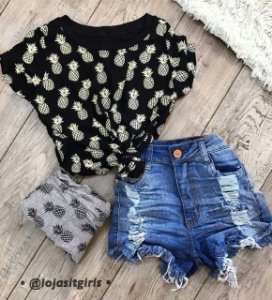 Blusa abacaxi
