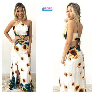 Vestido longo -  sunflower