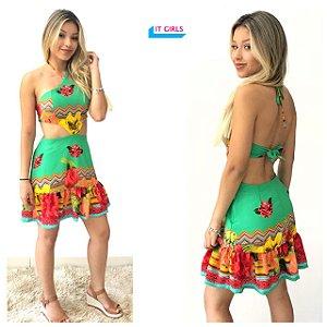 Vestido Thalia - Verde
