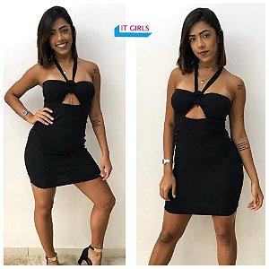 Vestido Lis bengaline - Black
