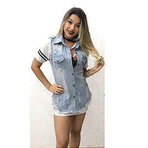 Max Colete Jeans Claro