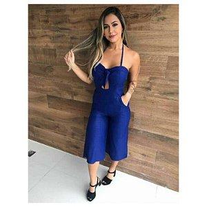 Macacão Pantacourt Alice - Azul
