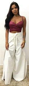 Pantalona envelope Branca