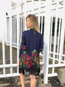 Kimono de lã - Azul marinho