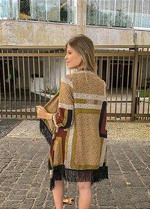 Kimono de lã - Geométrico