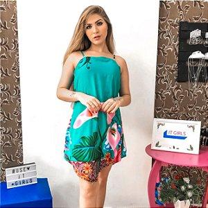 Vestido corte V - Flora