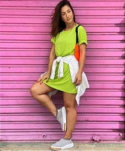 Vestido blusão neon