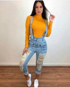 Suspensório jeans - blue