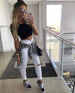 Calça Jeans branca - Destroyed