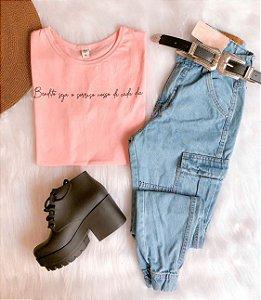Calça  Jeans - Cargo