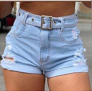 Short Jeans claro - com cinto
