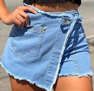 Short/saia jeans claro - Loren