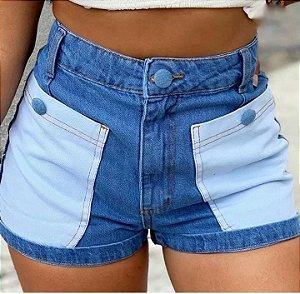 Shorts Jeans Bicolor - Bolsos