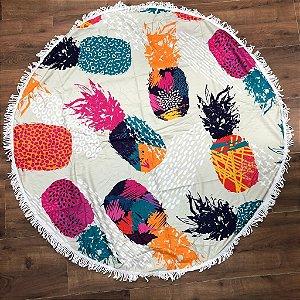 Canga atoalhada redonda - Abacaxi Colors