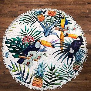 Canga atoalhada redonda - Farm Inspired