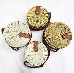 Bolsa redonda de Bambu