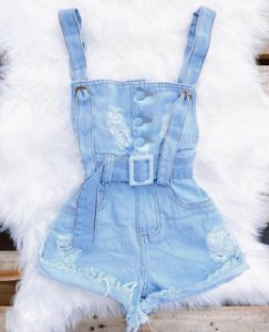 Macaquinho Jeans - Mary