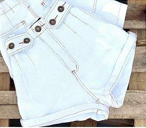 Short Jeans branco - Mykonos