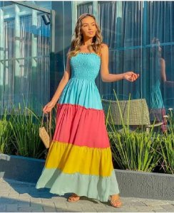 Vestido longo - Candy Colors