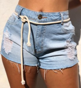 Shorts Jeans com cinto em corda - Bahia