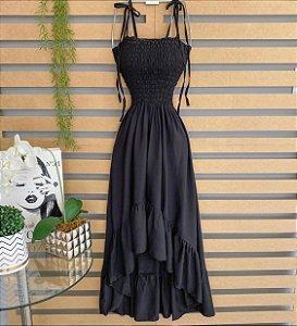 Vestido longo preto - Laila