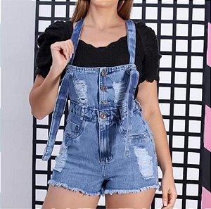 Macaquinho Jardineira Jeans - Miami