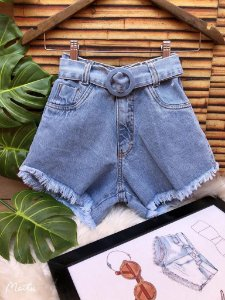 Short Jeans com cinto - Manu