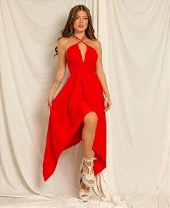 Vestido mídi Pontas - Cancún