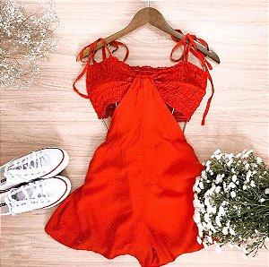 Macaquinho Lilian - Vermelho