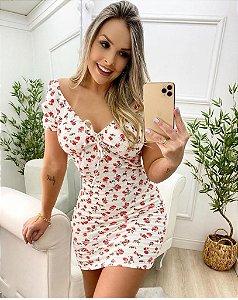 Vestido florido - com elastec