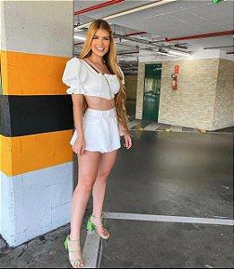 Shorts Jeans Godê - Branco