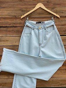 Calça pantalona jeans - Recortes