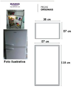 JOGO DE BORRACHAS PARA DAKO360 / REDK40 / REDK38