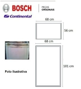Jogo Borracha Geladeira Bosch Continental Ksu40/ksv42/rsu39