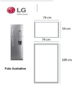 Jogo Borrachas Lg Mb582ulv-g - Geladeira + Congelador