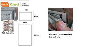 Jogo Borracha Brastemp Consul Brd36 Brm32/33/34/35 Crm32/33/
