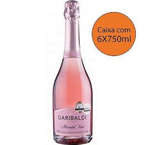Garibaldi Rosé Moscatel - Caixa com 6X750ml