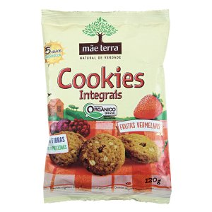Cookie Integral Orgânico Frutas Vermelhas 120g - Mãe Terra