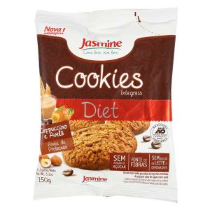 Cookies Integrais Capuccino e Avelã 150g - Jasmine