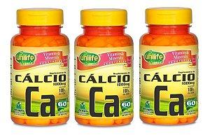 Cálcio 60 Cápsulas 1000mg (3 unidades)