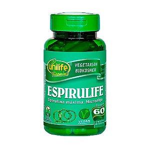 Spirulina 60 Cápsulas (500mg) - Unilife