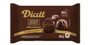 CHOCOLATE DIET MEIO AMARGO 50% CACAU 25G