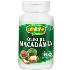 Óleo de macadâmia - 60 cápsulas Unilife