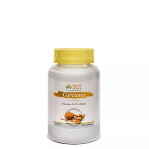 Cúrcuma Anti-inflamatória Natural com Vitaminas A, C, E e Zinco 500mg 60caps