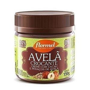 Creme de Avelã com Cacau e Pedaços Crocantes de Avelã 150g - Flormel - Zero Açúcar