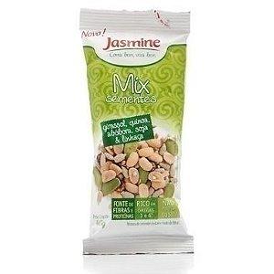 Mix de sementes, Girassol, quinoa, abóbora, soja e linhaça, 40g - JASMINE