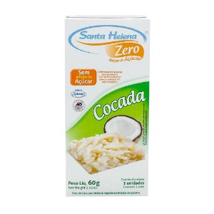 Cocada Zero 3 Unidades -  60g - SANTA HELENA