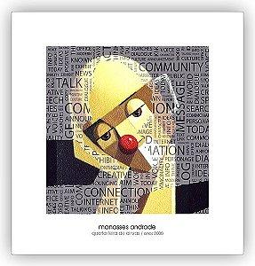 Coleção com  4  Reproduções Fine Arte em Papel  21 x 20 cm - Manasses Andrade