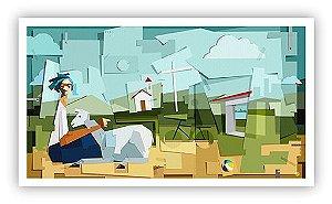 Do campo a cidade / Tela - Manasses Andrade